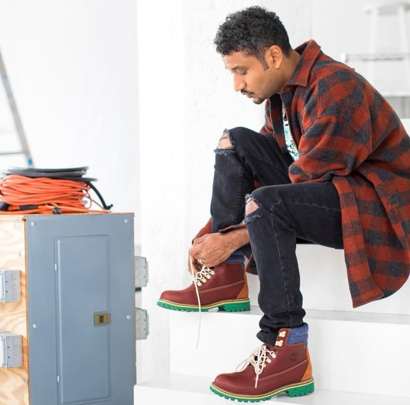 Don does Timbs with his own flavor. Even LA has their way to layer for winter.