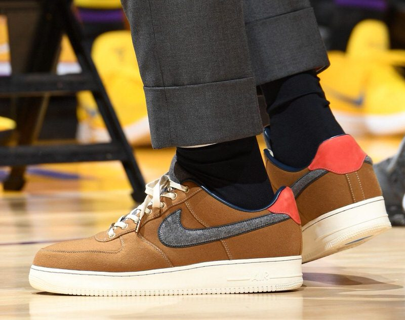 High-end tailoring is a move that's been appropriated by a lot of NBA players lately. And these Air Force 1s give the overall look a Sportswear edge.