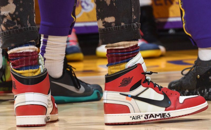 LBJ proving to all that they're in the presence of the king's court.