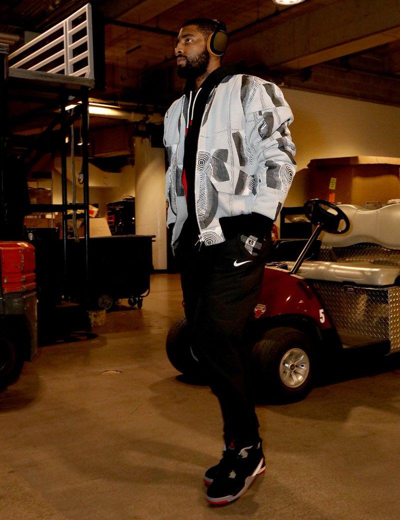 "Kyrie Irving in the Air Jordan 4 Retro ""Bred"""