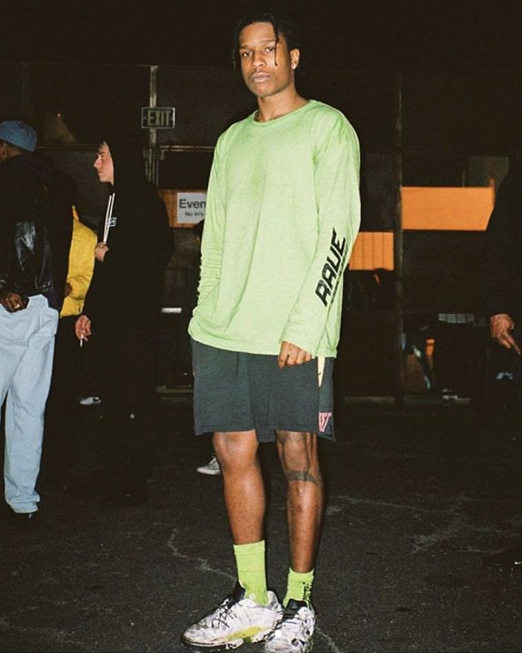 Asap Rocky in the Maison Martin Margiela sneakers