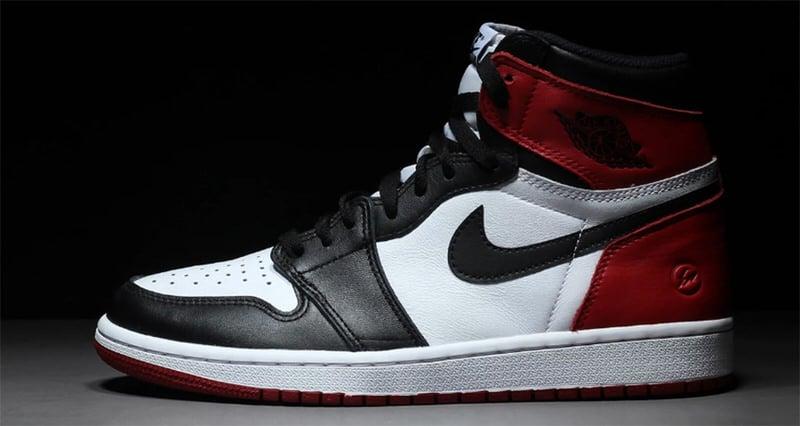 """fragment design x Air Jordan 1 """"Black Toe"""""""