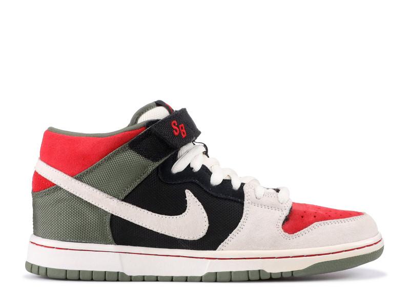 "Nike SB Dunk Mid ""Sail/Varsity Red"""