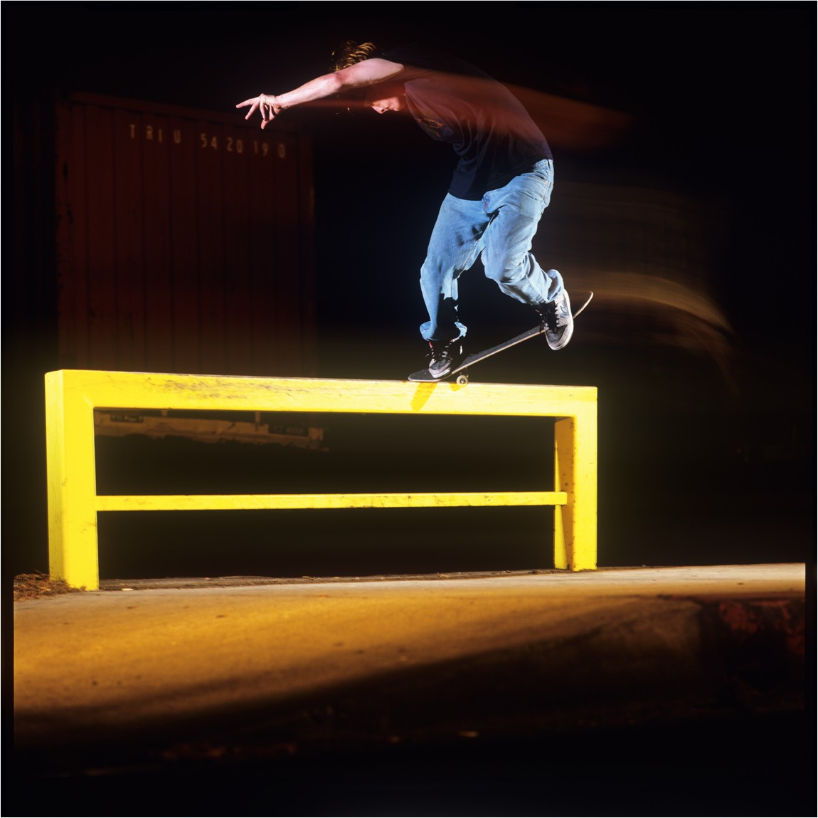 Wieger Van Wageningen skating Supreme Dunks in the original ad campaign.