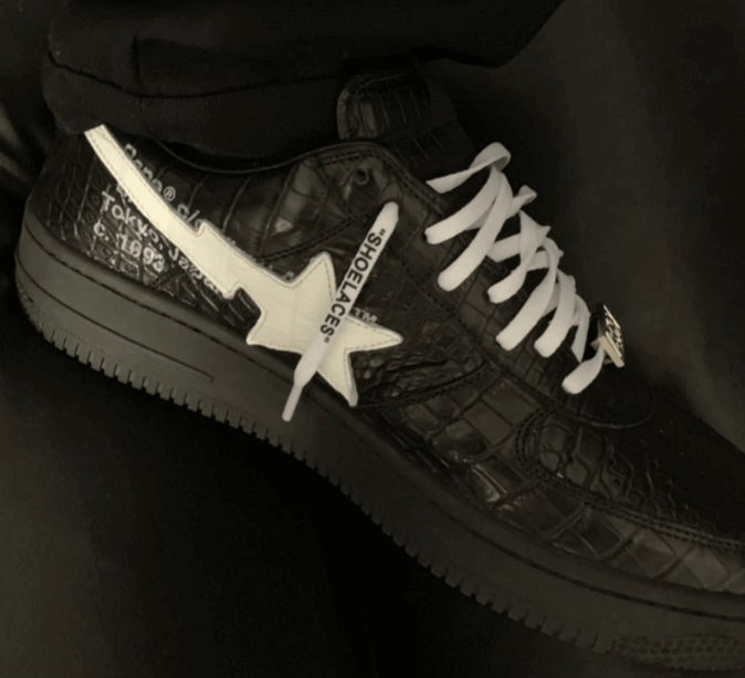 Off-White x BAPE Bapesta