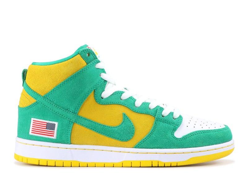 "Nike SB Dunk High ""Oakland A's"""