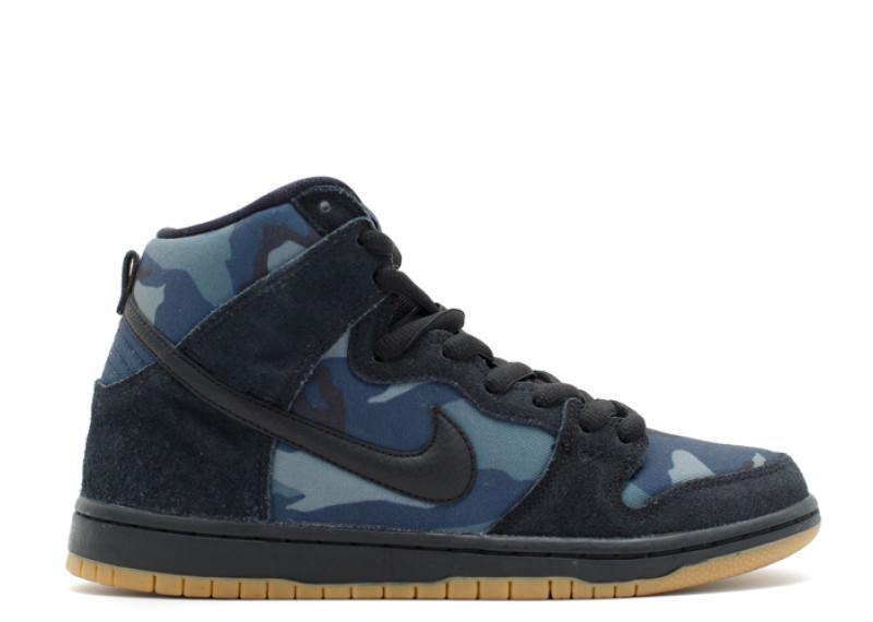"Nike SB Dunk High ""Black Camo"""