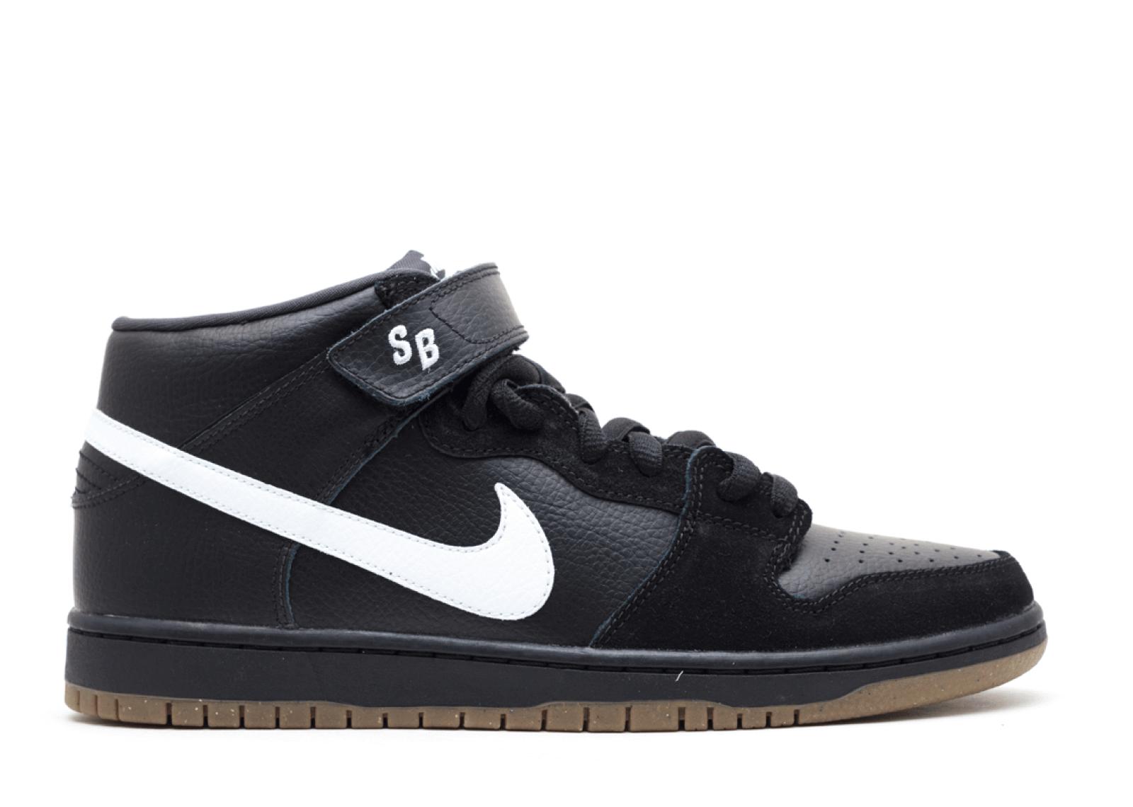 "Nike SB Dunk Mid ""Black/White/Gum"""