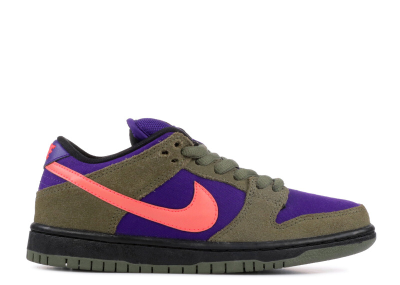 "Nike SB Dunk Low ""Medium Olive/Electric Purple"""