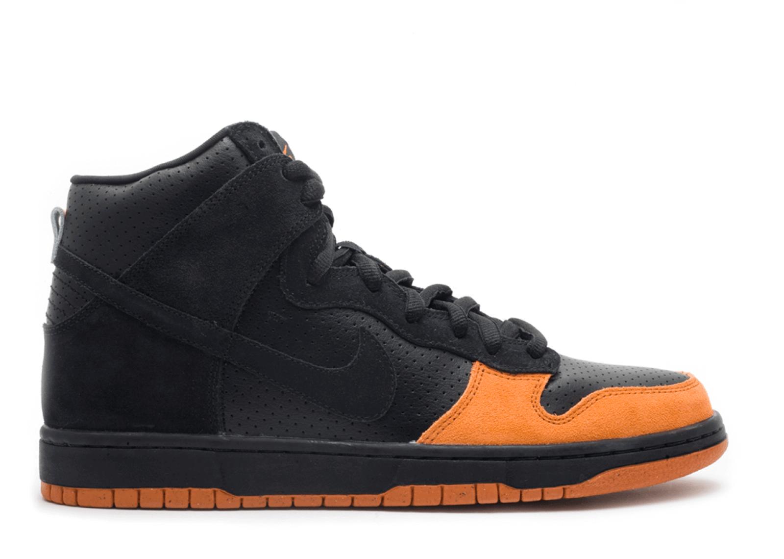 "Nike SB Dunk High ""Black/Solar Orange"""