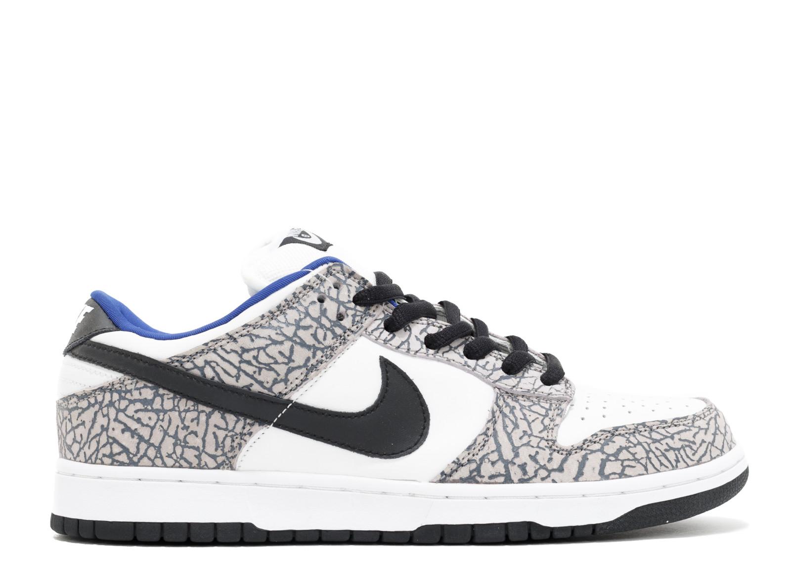 """Supreme x Nike SB Dunk Low """"White Cement"""""""