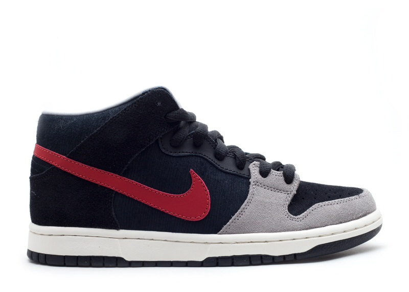 "Nike SB Dunk Mid ""Black/Varsity Red"""