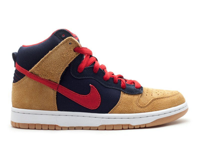 "Nike SB Dunk High ""Obsidian/Red/Maple"""