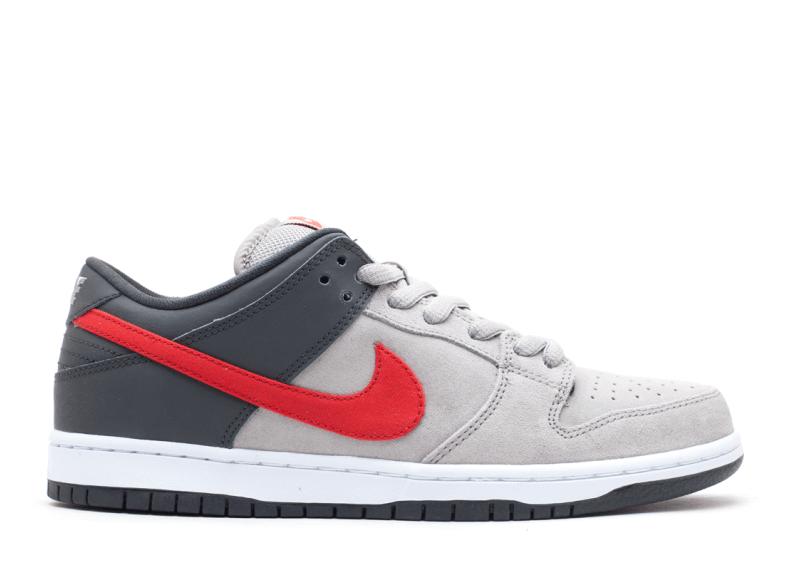 "Nike SB Dunk Low ""Medium Grey/University Red"""