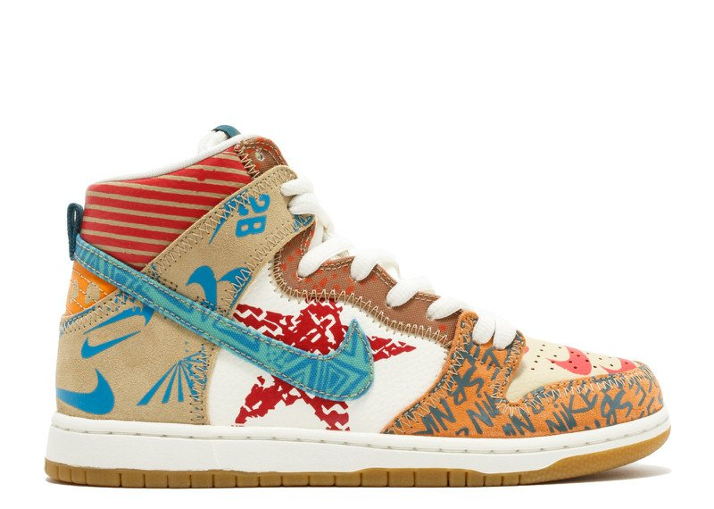 "Thomas Campbell x Nike SB Dunk High ""What The"""