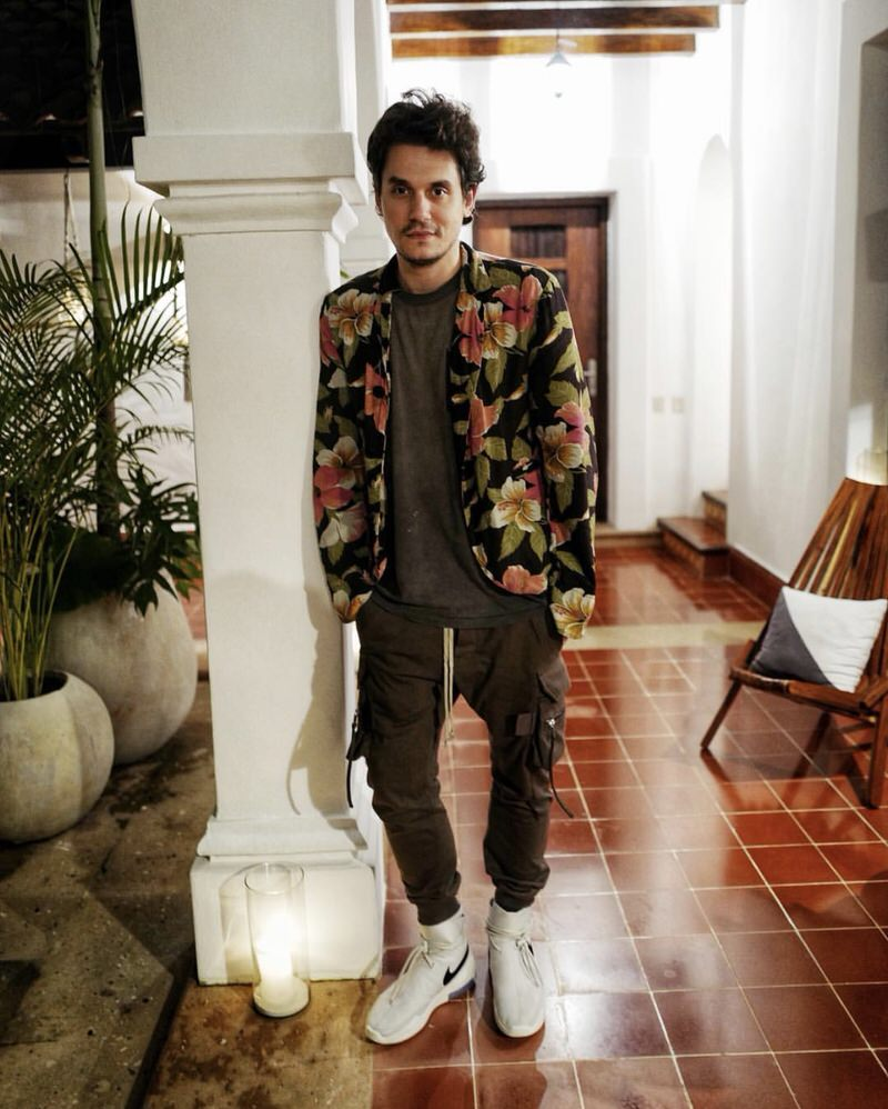 John Mayer's look is flourishing with wild silhouettes, but the fact that they fit so well is the reason he's able to pull it off.