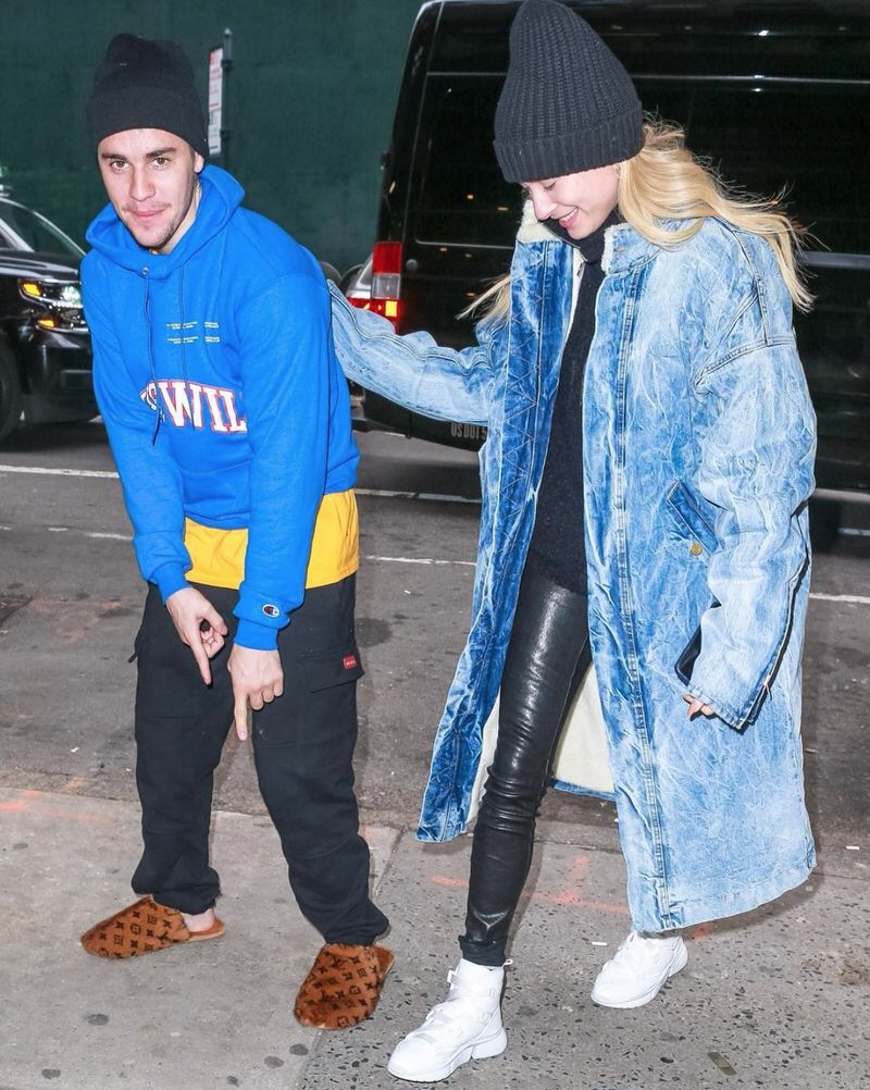 Justin Bieber in the Louis Vuitton Slippers