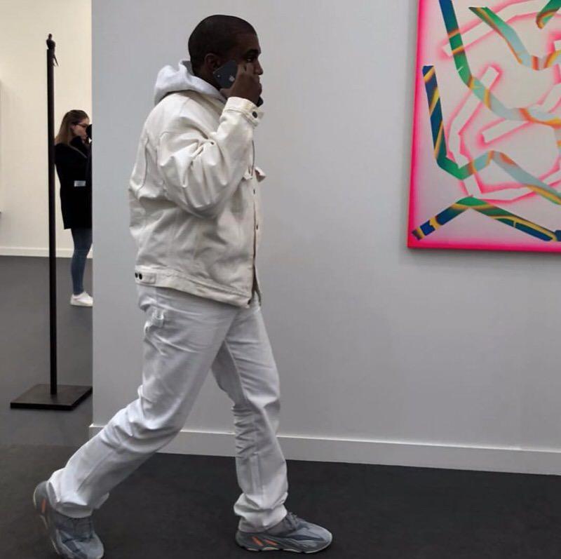 "Kanye West in the adidas Yeezy Boost 700 ""Inertia"""