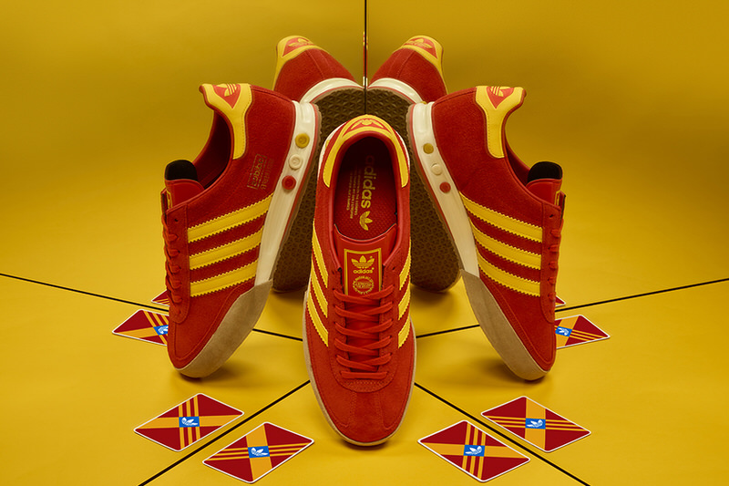 size? x adidas Kegler Super Red/Yellow