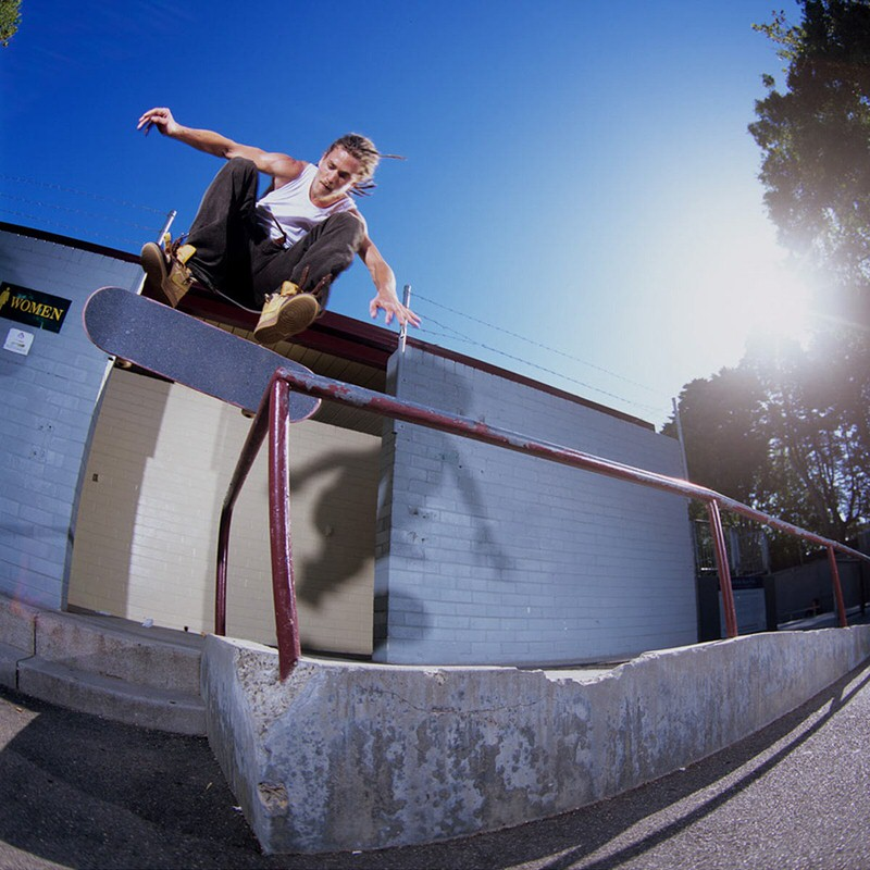 "Lewis Marnell skating the ""Wheat"" Dunk Mid."