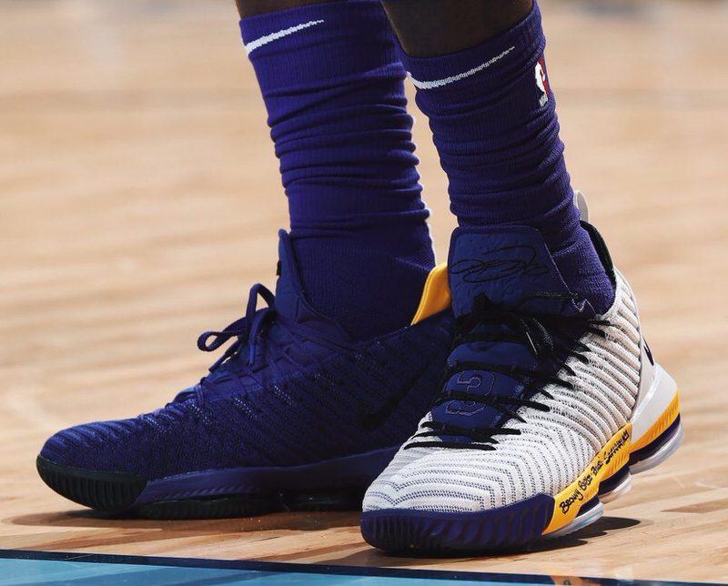 lebron james mix match shoes