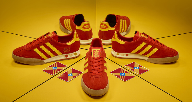 size? x adidas Kegler Super Red/Yellow