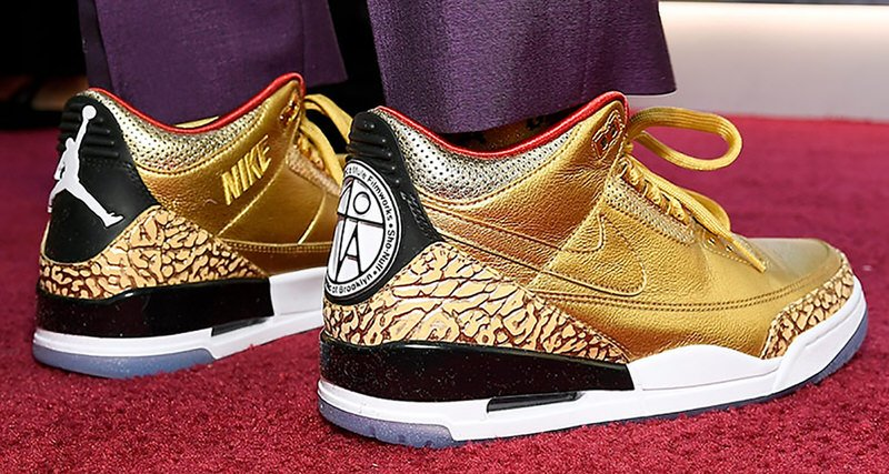 Gold Oscars Air Jordan 3 JTH Spike Lee
