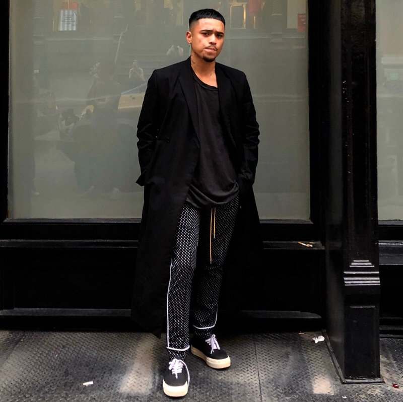 Rhuigi shows the versatility of track pants and how they can be easily dressed up as well as they can be casual.