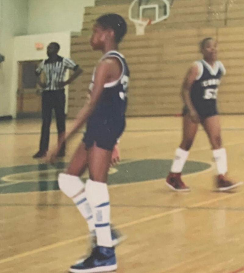 Allen Iverson Wearing Air Jordans