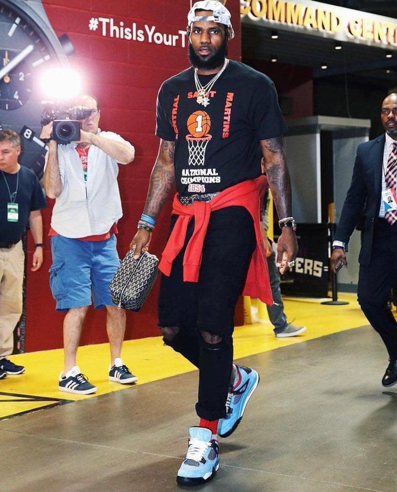 LeBron James Wearing Air Jordans
