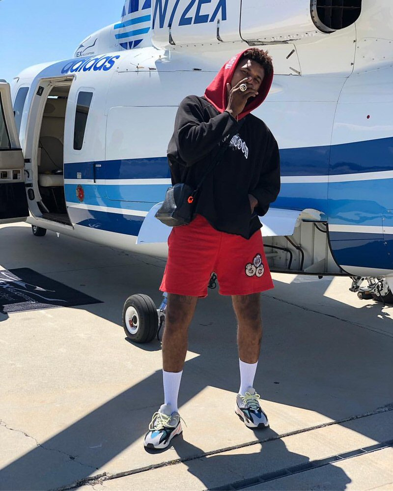 """Nick Young in the adidas Yeezy Boost 700 """"Wave Runner"""""""