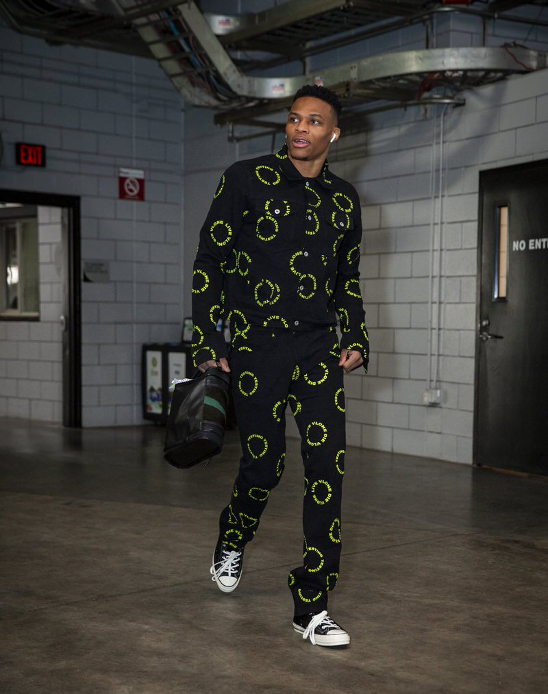 Russell Westbrook in the Converse Chuck Taylor Hi