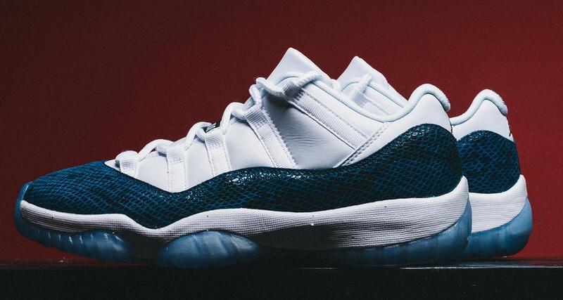 "Air Jordan 11 Low ""Blue Snakeskin"""
