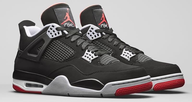 jordan retro 4 black and red