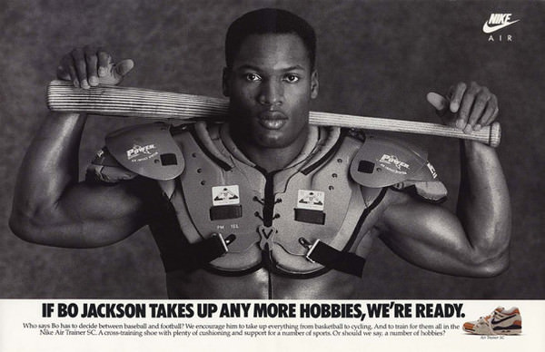 1988 Magazine Advertisement for Nike Air Trainer SC featuring Bo Jackson