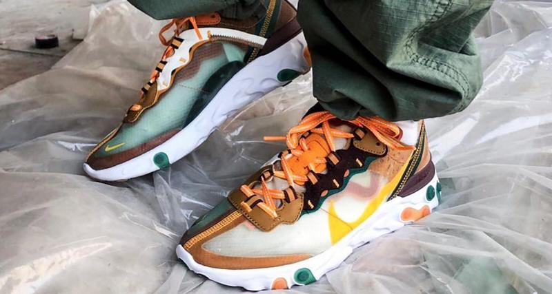 Nike React Element 87 Orange/Yellow