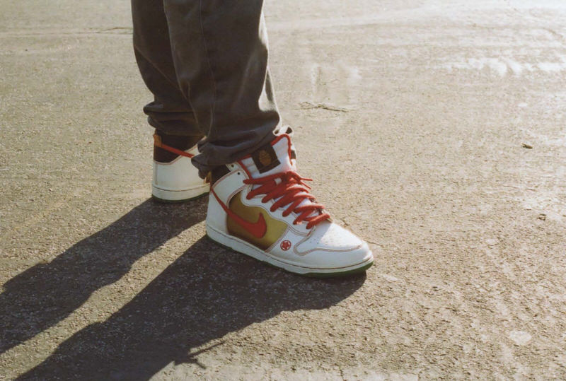 """@simpleassjeff with the """"Money Cat"""" SB Dunk Highs."""