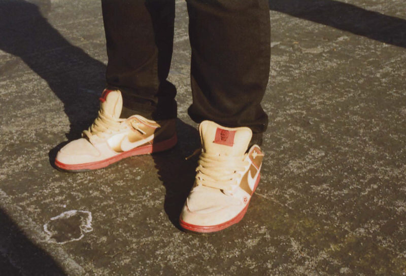 """@donsimple with the """"Money Cat"""" SB Dunk Lows."""