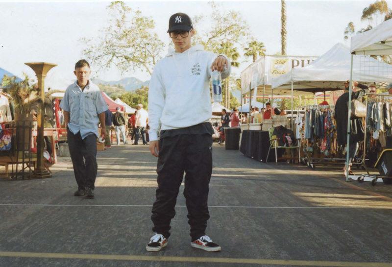 @tristancady blends tech pants with custom Vans Old Skools.