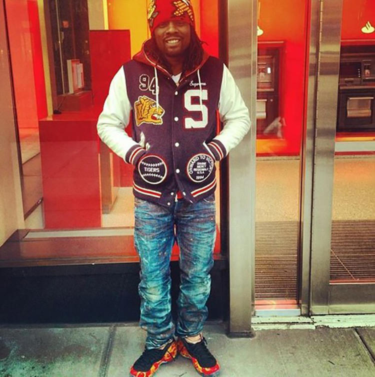 Wale gives the Supreme x Nike Air Foamposite One the varsity hoops look.