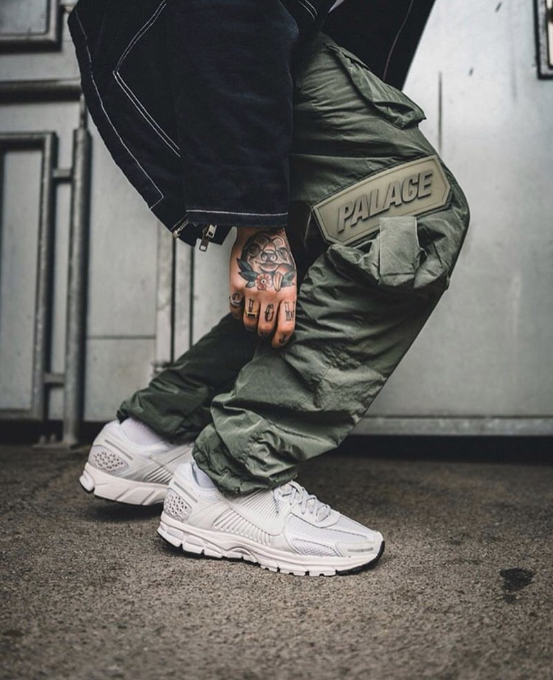 @willy styles the Nike Zoom Vomero 5s with Palace cargo pants.