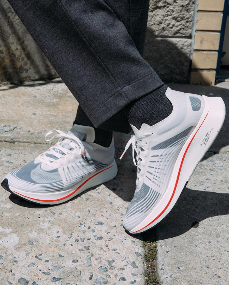 Another prevalent point why tailored trousers make it easy to dress up the Zoom Fly SPs.