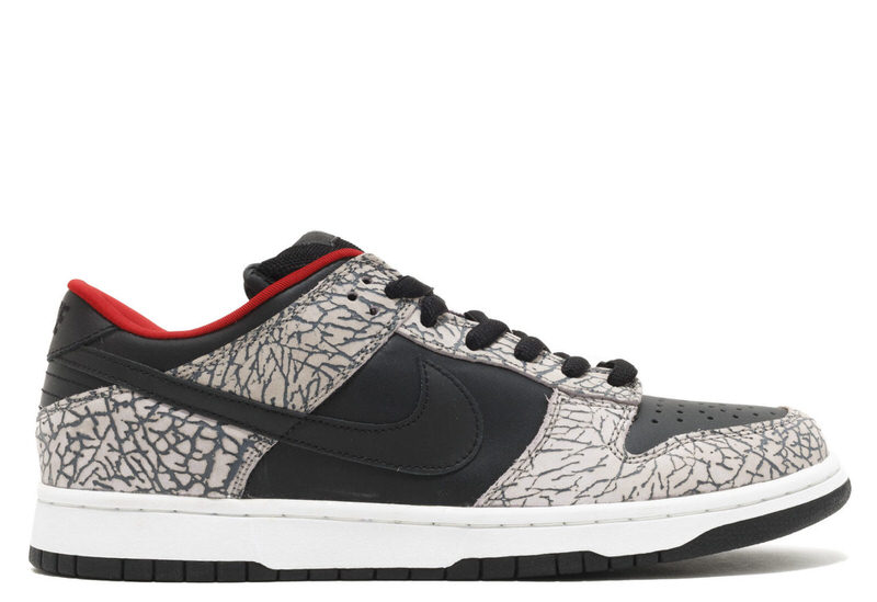 "Supreme x Nike SB Dunk Low ""Black Cement"""