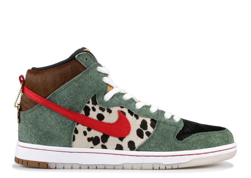 "Nike SB Dunk High ""Walk the Dog"". Box Code: BQ6827 300. Teal Box."