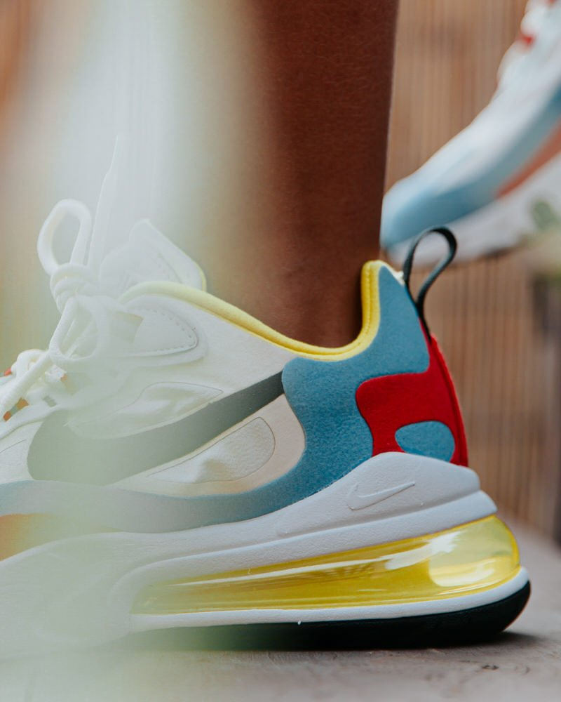 air max 270 react women on feet