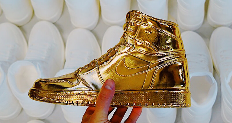 Limited 24K Gold Plated Air Jordan 1