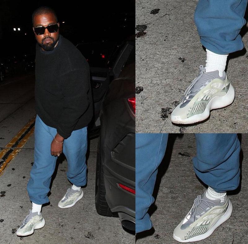kanye wearing adidas
