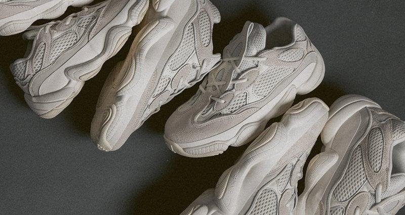 adidas yeezy 500 bone white on feet