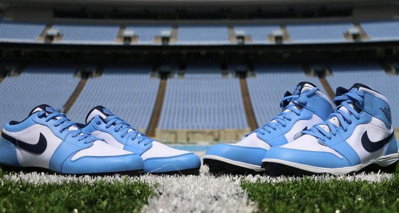 A Closer Look At The Air Jordan 1 Cleats For Tar Heel Football Nice Kicks