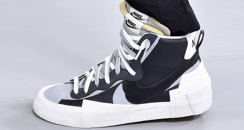 sacai x Nike Blazer Mid Wolf Grey